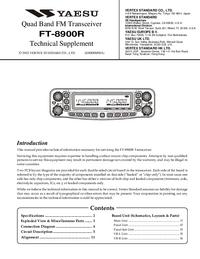 manuel de réparation Yaesu FT-8900R