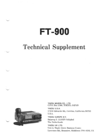 Manual de serviço Yaesu FT-900