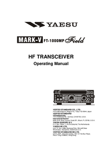 Manuel de l'utilisateur Yaesu MARK-V FT-1000MP Field