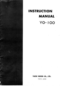 User Manual with schematics Yaesu YO-100