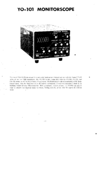 User Manual with schematics Yaesu YO-101