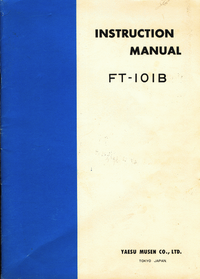 User Manual with schematics Yaesu FT-101B