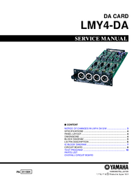 Manual de servicio Yamaha LMY4-DA