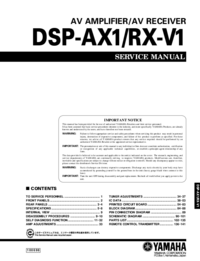 Manual de servicio Yamaha DSP-RX-V1