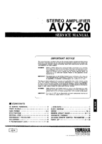 Service Manual Yamaha AVX-20