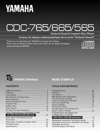 Manual del usuario Yamaha CDC-665
