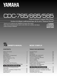 Gebruikershandleiding Yamaha CDC-665