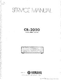 Manual de servicio Yamaha CR-2020