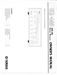 User Manual with schematics Yamaha CR-440