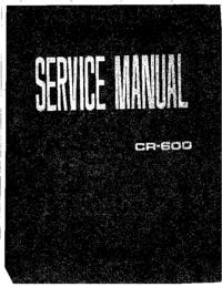 Manuale di servizio Yamaha CR-600
