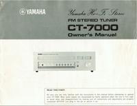 Руководство по техническому обслуживанию Yamaha CT-7000