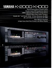 Fiche technique Yamaha K-2000