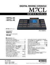 Service Manual Yamaha M7CL