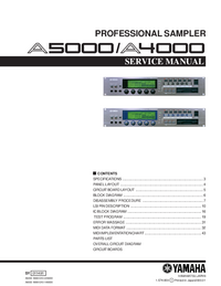 Service Manual Yamaha A4000