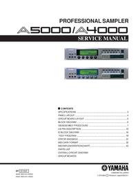 Serviceanleitung Yamaha A5000