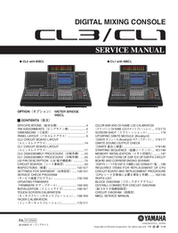 Service Manual Yamaha CL1