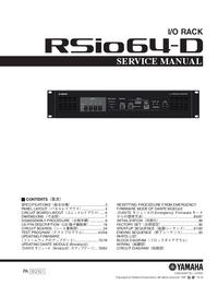 manuel de réparation Yamaha RSio64-D