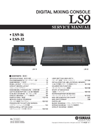 Service Manual Yamaha LS9-32