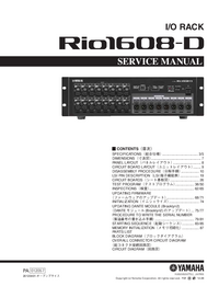 Instrukcja serwisowa Yamaha Rio1608-D