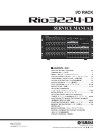 Manual de serviço Yamaha Rio3224-D