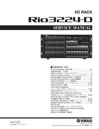 Instrukcja serwisowa Yamaha Rio3224-D