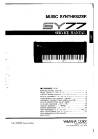 Service Manual Yamaha SY-77