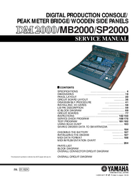 Service Manual Yamaha SP2000