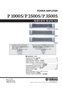 Service Manual Yamaha P3500S