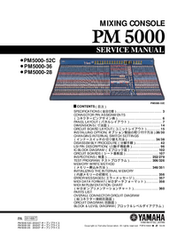 Service Manual Yamaha PM5000-28