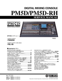 Manual de servicio Yamaha PM5D