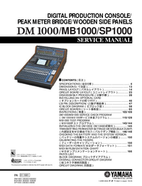 Service Manual Yamaha SP1000