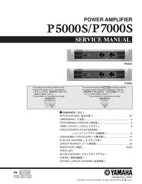 Service Manual Yamaha P5000S