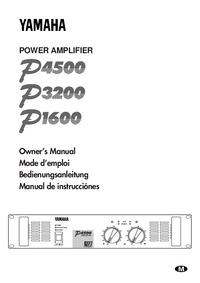 Manual del usuario Yamaha P1600