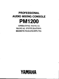 Servicio y Manual del usuario Yamaha PM1200