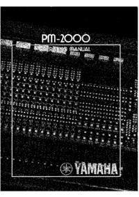 User Manual Yamaha PM-2000