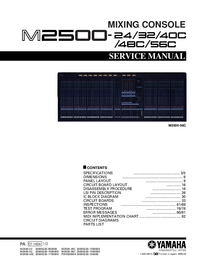 Manual de servicio Yamaha M2500-24