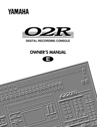 User Manual Yamaha 02R