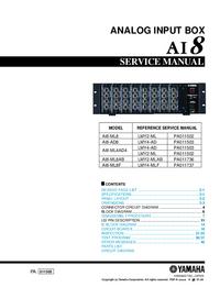 Serviceanleitung Yamaha AI8