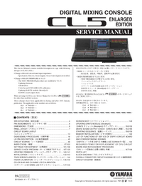Manual de servicio Yamaha CL5