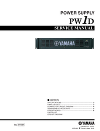 Service Manual Yamaha PW1D