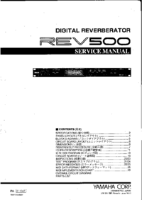 Manual de servicio Yamaha REV500