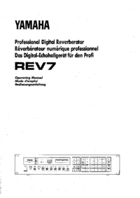 Manuale d'uso Yamaha REV7