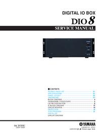 Serviceanleitung Yamaha DIO8