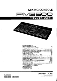 Manual de servicio Yamaha PM3500