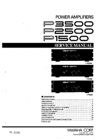 Service Manual Yamaha P3500