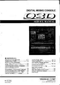 Instrukcja serwisowa Yamaha 03D