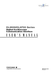 User Manual Yokogawa DL9700 Series