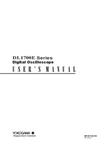 User Manual Yokogawa DL1700E Series