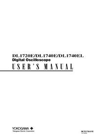 User Manual Yokogawa DL1740E