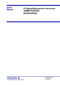 User Manual Yokogawa WE500
